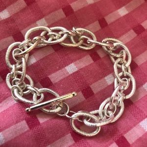Sterling Silver Link Charm Bracelet Stamped 925